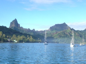 Anchored in Moorea